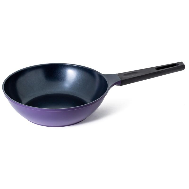 Neoflam Amie 26cm Wok Pan Induction Purple