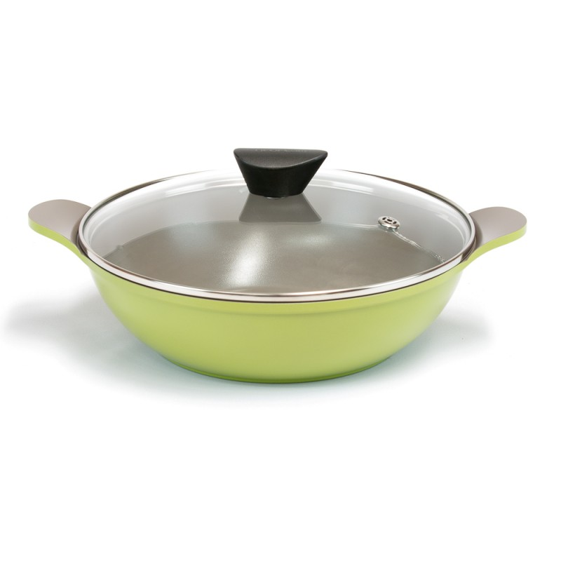 Neoflam Amie 28cm Two Handles Wok Pan Induction Green olive    ** Online Exclusive **