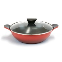 Neoflam Amie 28cm Two Handles Wok Pan Induction Red  ** Online Exclusive **