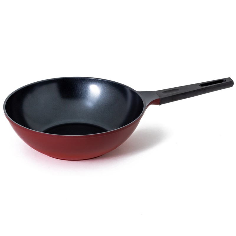 Neoflam Amie 30cm Wok Pan Non-Induction Red