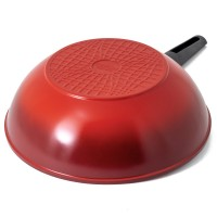 Neoflam Amie 30cm Wok Pan Induction Red