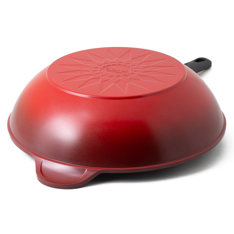 Neoflam Amie 34cm Wok Pan Non-Induction Red