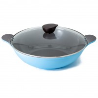 Neoflam Amie 36cm Two Handles Wok Pan Induction Light Blue