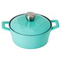 Neoflam Carat 20cm Casserole Induction with Die Cast Lid Mint