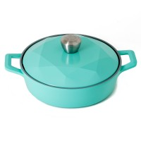 Neoflam Carat 24cm Low Casserole -NON Induction with Die-Cast Lid Mint