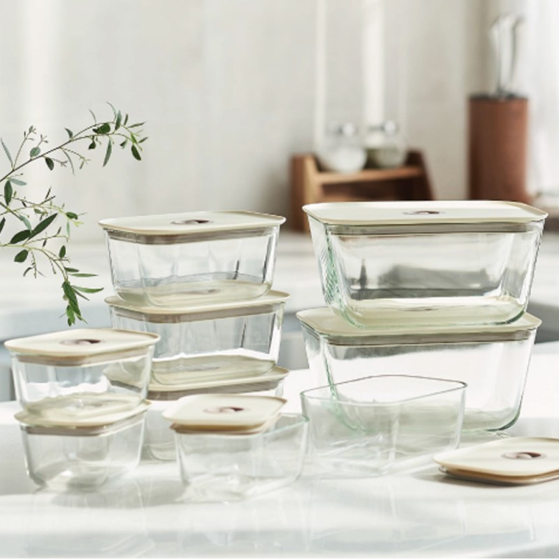 Neoflam Clik Glass food container set of 8
