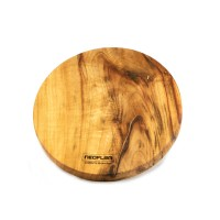 Neoflam Camphor Laurel Large round hot placement Cutting chopping board hand made in Byron bay
