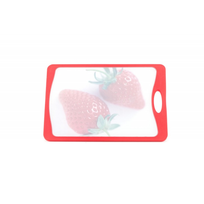 Neoflam Deco Cutting Board Medium Red with Strawberry Design