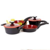 Neoflam Induction De Chef set of 5 + Bonus pan protector pack
