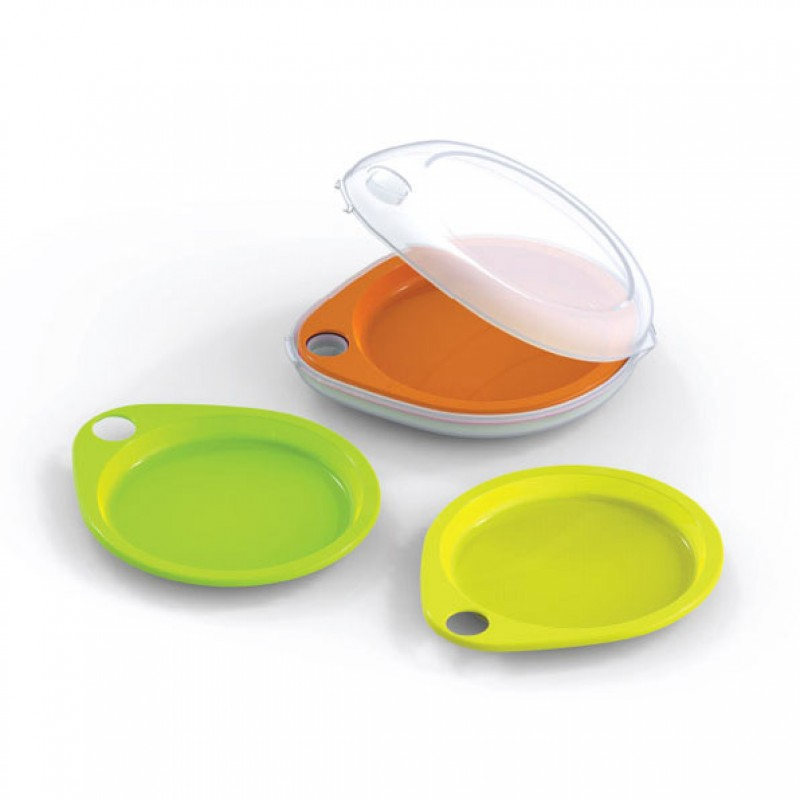 Neoflam Droplet Plate 5 Piece Picnic Set with Case
