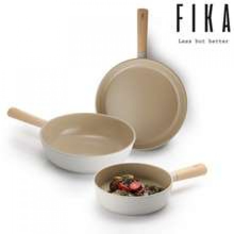 Neoflam Fika 24, 28cm Fry pans & 26 Wok Induction, 3 x Glass lid and pan protector