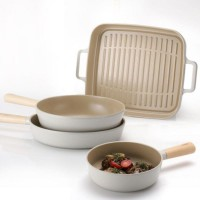 Neoflam Fika 24, 28cm Fry pans, 26 Wok Induction and Grill pan BONUS 3pc pan protector