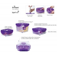 Neoflam CLOC Tritan Vacuum Container  Rectangle 2.3L - BPA Fee