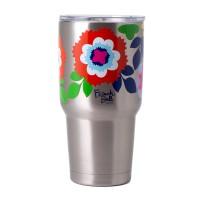 French Bull Jumbo Mug 810ml Stainless Steel Mug Double walled with BPA Free Lid Sunshine