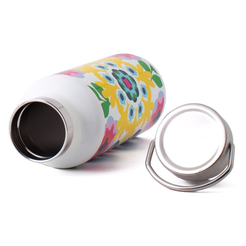 French Bull Line 500ml Stainless Steel Tumbler Double Walled with Handle Sunshine