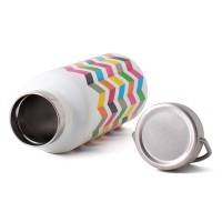 French Bull Line 500ml Stainless Steel Tumbler Double Walled with Handle Ziggy