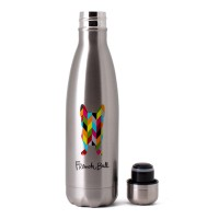French Bull Pin 500ml Stainless Steel Tumbler Double walled Ziggi Dog