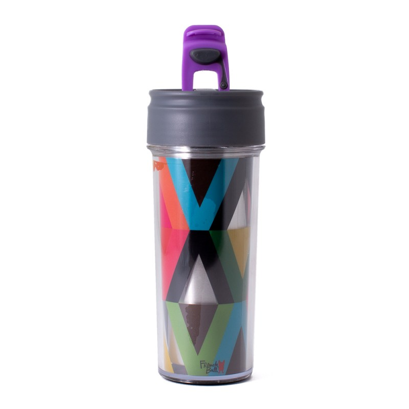 FRENCH BULL STAINLESS STEEL TRAVEL MUG RAINDROP CUP INSULATED MUG HOT AND COLD