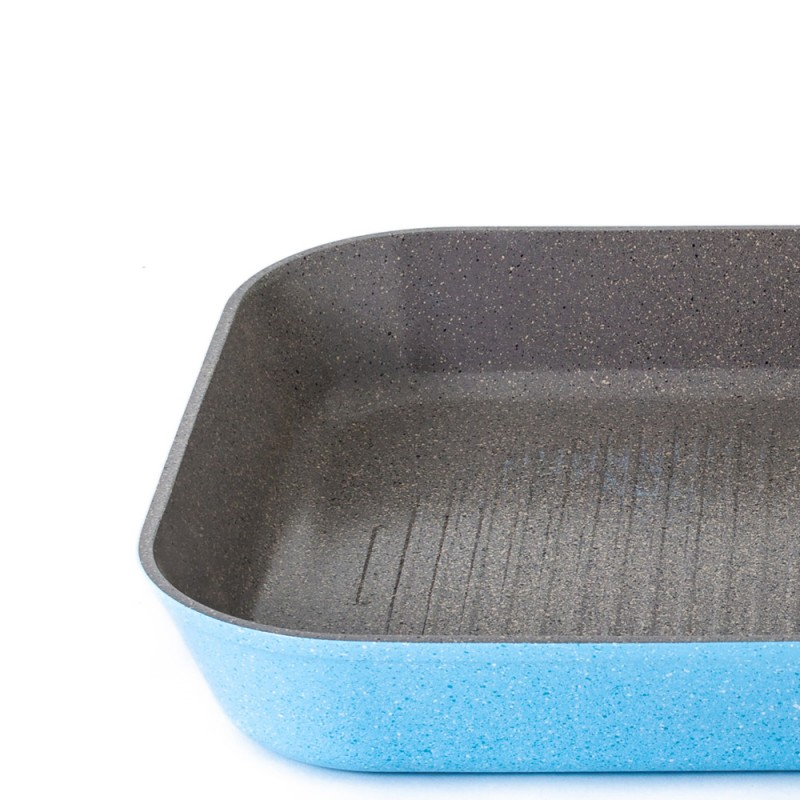 Neoflam Luke Hines 28cm Grill pan Induction Marble Blue