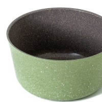 Neoflam Luke Hines 18cm Sauce Pan Induction Marble Green