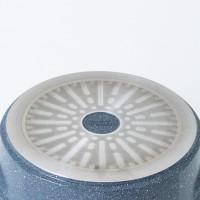 Neoflam Marble 4 Piece Set 18cm Saucepan 20cm 24cm Low & 24cm Casserole Induction with Glass Lid