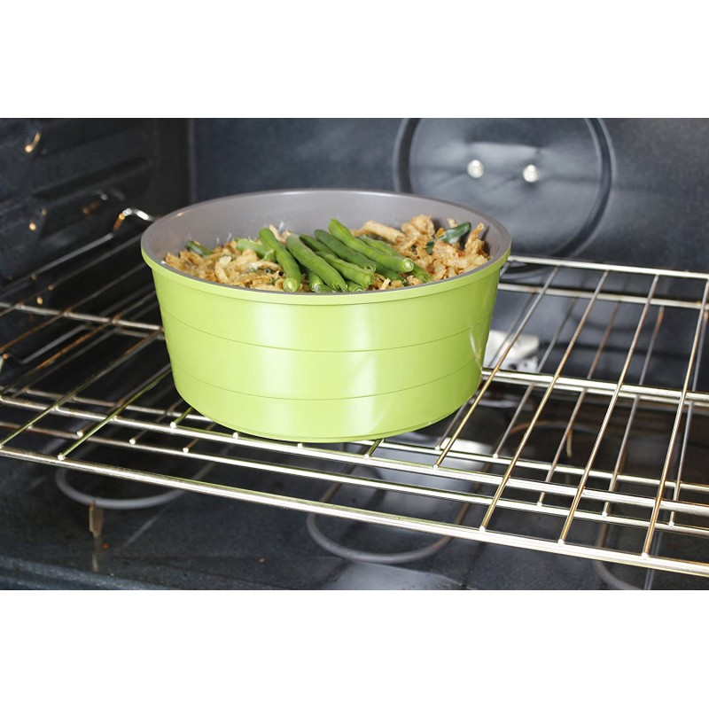 Neoflam Midas 9 Piece Cookware Set Stack-able Non-Stick Ceramic Coating