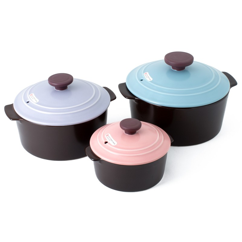 Neoflam Dandy Nature Cook Stone Pots 3 Piece Set