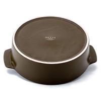 Neoflam Motus 24cm Low casserole & 24cm Ceramic steamer Olive & White
