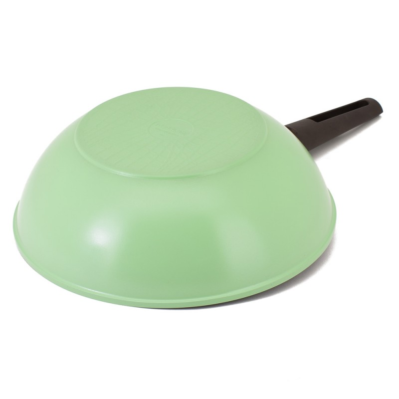 Neoflam Nature+ 30cm Wok Pan Induction Apple Green