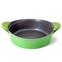 Neoflam Nature+ 28cm Low Casserole Induction  Apple Green