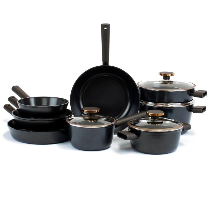 Neoflam Noblesse complete Induction 8pc Set + Bonus 6 pan protectors