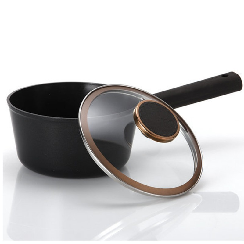 Neoflam Noblesse 18cm Sauce pan Induction with glass lid