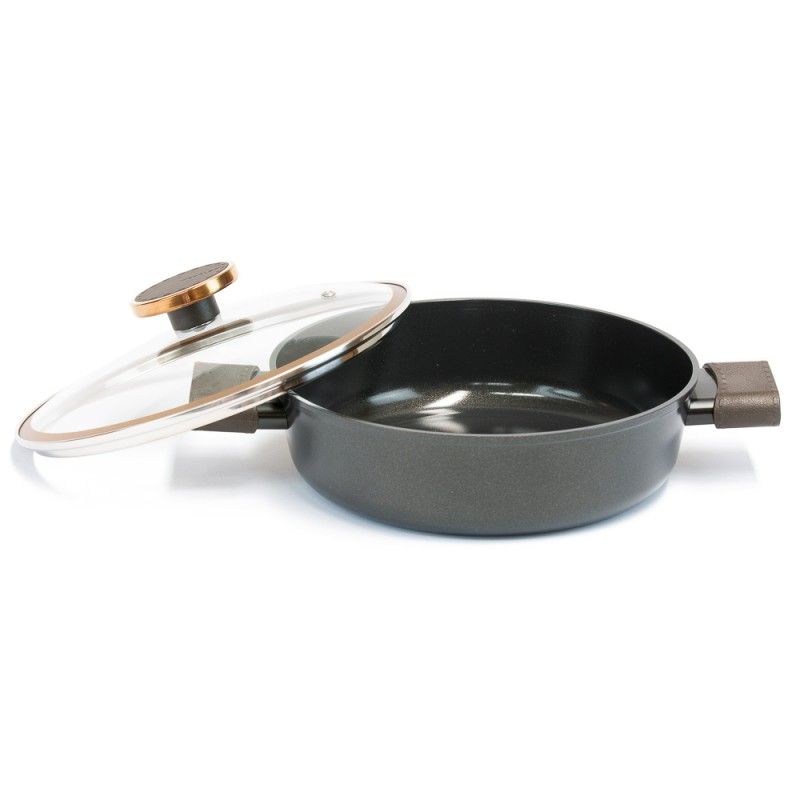 Neoflam Noblesse 24cm Low casserole Induction with glass lid