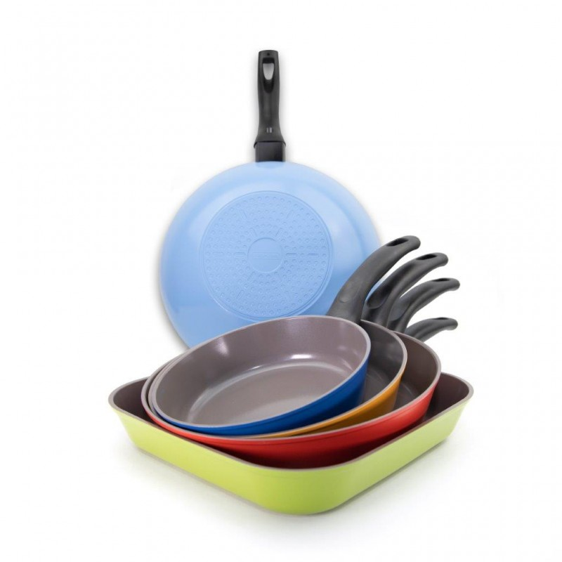 Neoflam Summer Reverse Complete Set 5 pc - Induction  with bonus 3 x  pan protectors
