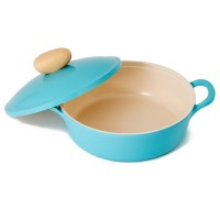 Neoflam Retro 26cm Low Stockpot Induction with Die-Cast Lid  Blue