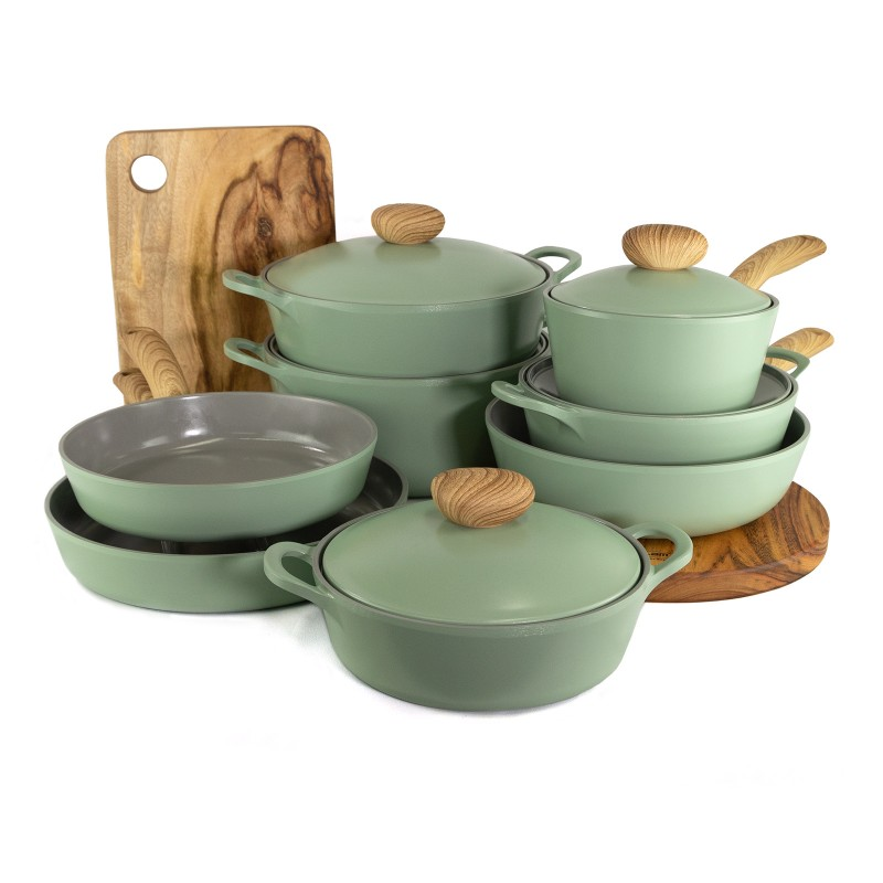 Neoflam Retro Ultimate Induction Set Green Demer - with free exclusive gifts