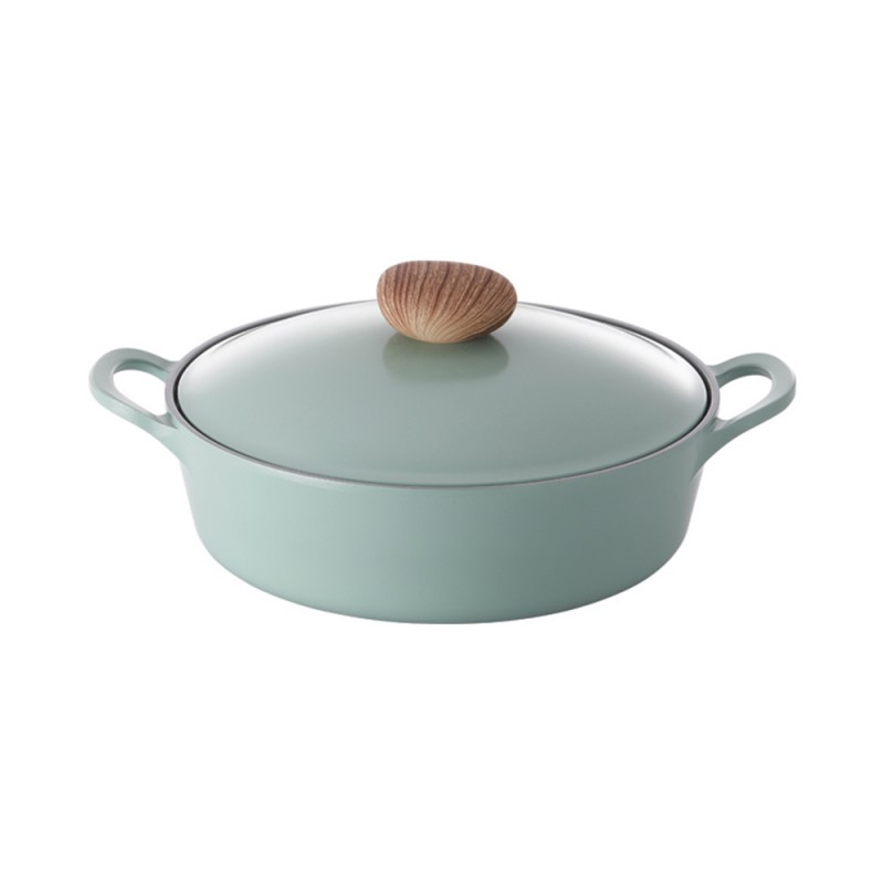Neoflam Retro 22cm Low Stockpot Induction with Die-Cast Lid  Green Demer ** Online Exclusive **