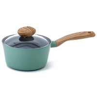 Neoflam Retro 18cm Sauce Pan Induction with Die-Cast Lid Green mint ** Online Exclusive **