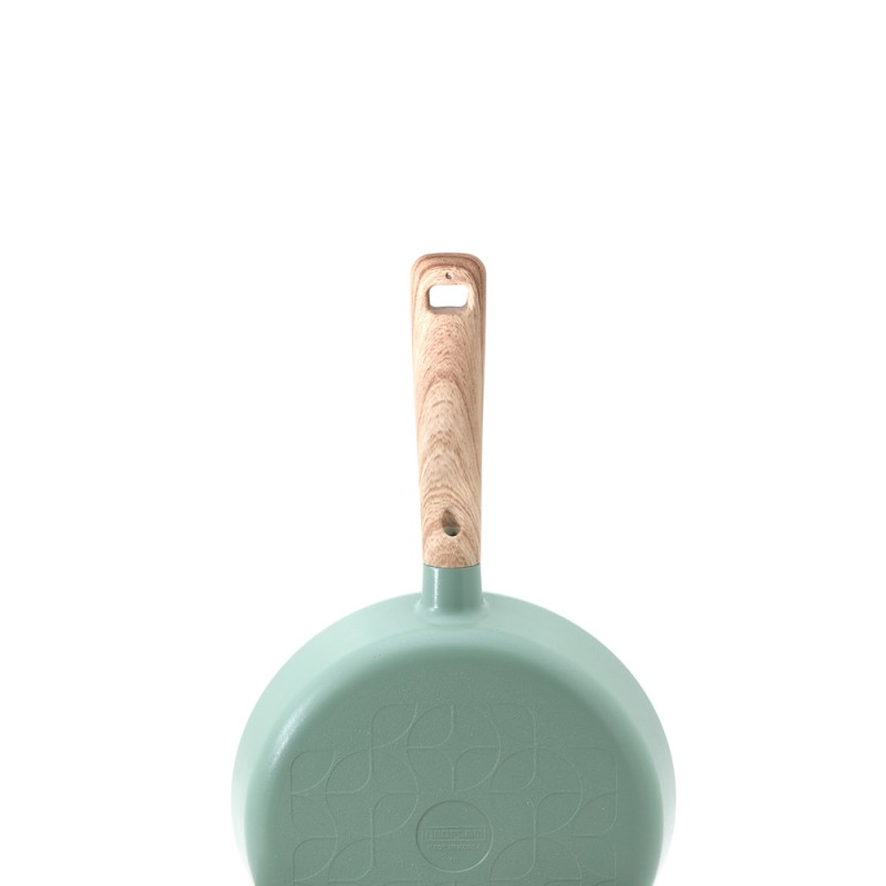 Neoflam Retro 18cm Sauce Pan Induction with Glass  Lid Green Demer