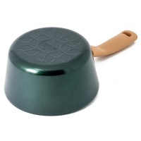 Neoflam Retro Jewel 18cm Sauce Pan Induction with Die-Cast Lid Green Topaz