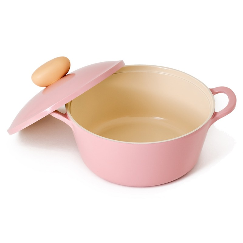 Neoflam Retro 22cm Stockpot Induction with Die-Cast Lid Pink