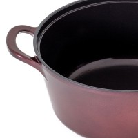 Neoflam Retro Jewel 22cm Stockpot Induction with Die-Cast Lid Red Ruby