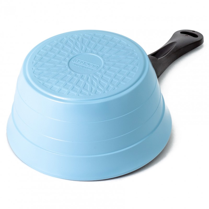Neoflam Nature Chef Roca 18cm Sauce Pan Induction with Die-Cast and Glass Lid Blue