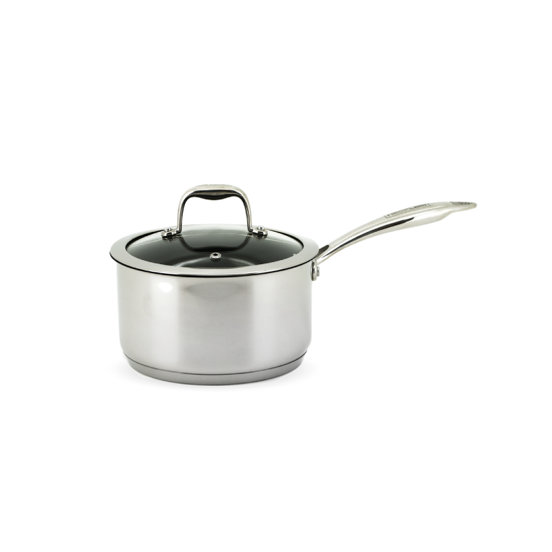 Neoflam Stainless Steel 20cm Sauce Pan Induction with Glass Lid