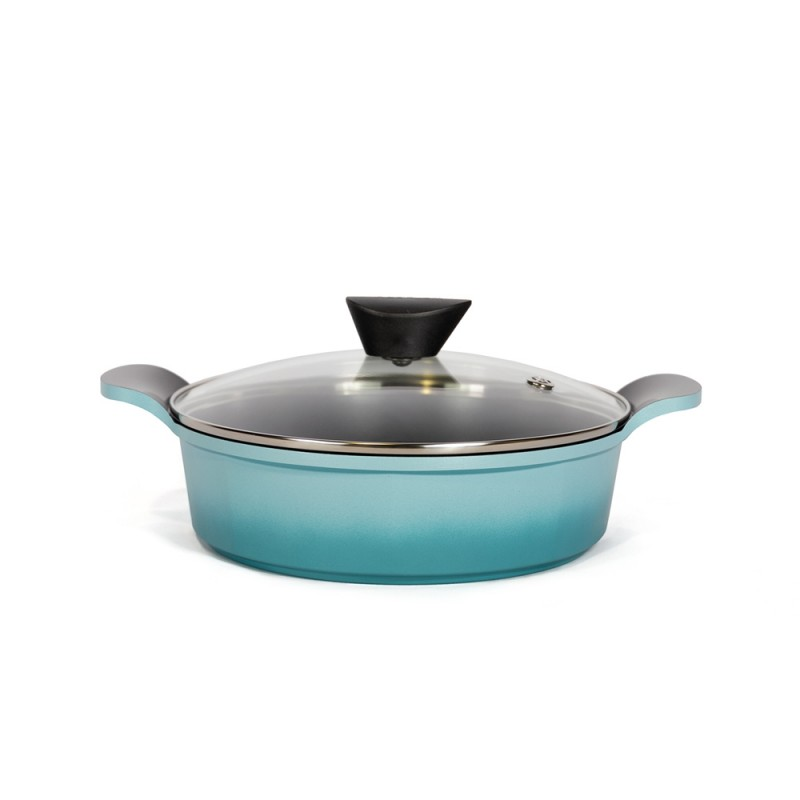 Neoflam Venn 24cm Low casserole Induction Turquoise
