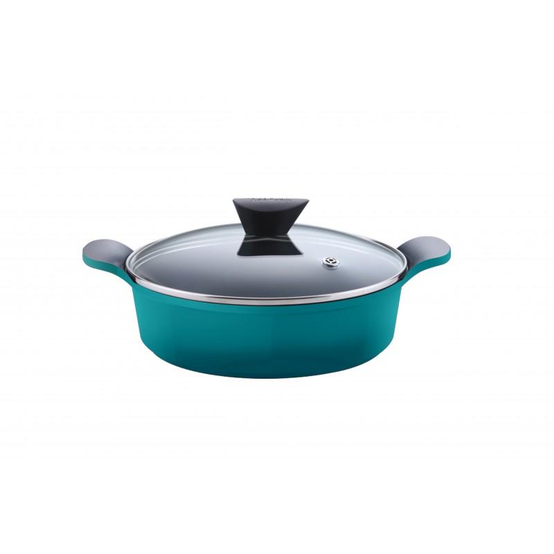 Neoflam Venn 24cm Low casserole Induction torquise