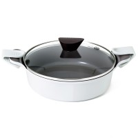 Neoflam Venn 24cm Low casserole Induction White ** Online Exclusive **