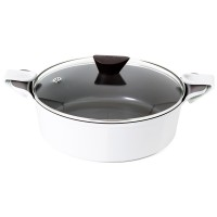 Neoflam Venn 28cm Low Casserole Induction White  ** Online Exclusive **