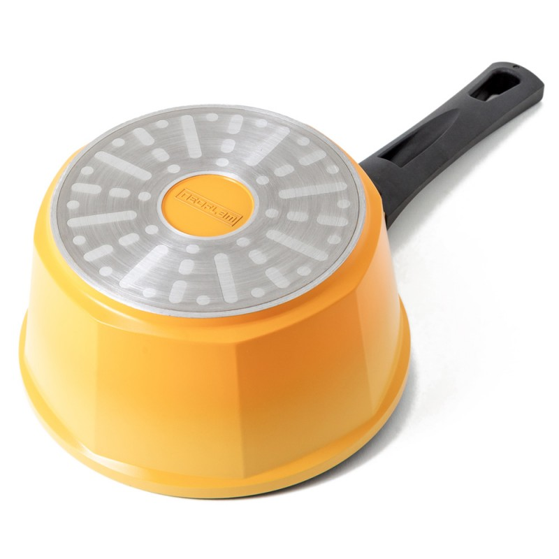 Neoflam Venn 18cm Sauce Pan Induction Yellow