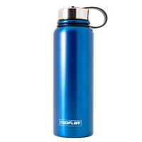 Neoflam All Day 1.2L Stainless Steel Double Walled and Vacuum Insulated Water Bottle Blue Metal